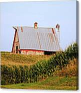 Red Barn Corn Field Canvas Print