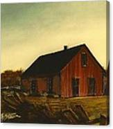 Red Barn   No. 3 Canvas Print