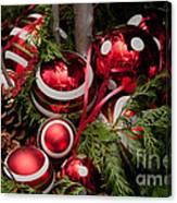 Red Christmas Balls Canvas Print