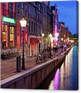 Red Light District In Amsterdam Canvas Print