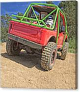 Red Off Road Car  Canvas Print