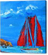 Red Sails Canvas Print