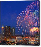 Red White And Boom Photo Canvas Print