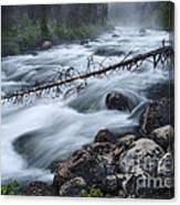 Redfish Creek In Stanley Idaho Canvas Print