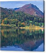 Reflection Of Hills In A Lake Canvas Print