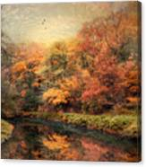 Reflections Of October Canvas Print
