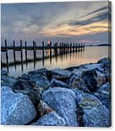 Rehoboth Bay Sunset Canvas Print