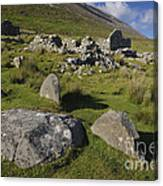 Remains Of Slievemore Village Canvas Print