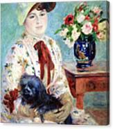 Renoir's Mlle Charlotte Berthier Canvas Print