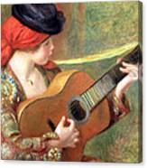 Renoir's Young Spanish Woman With A Guitar Canvas Print