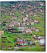Residents Moved From Homes In Cliffs To Homes Below In 1951 In Cappadocia-turkey Canvas Print