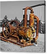 Retired Petroleum Pump Canvas Print