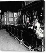 Reverse Angle Interior Cabinet Saloon 68 W. Congress Tucson Arizona 1910 Canvas Print