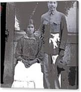 Revolutionary Couple In Studio Unknown Location 1915-1920-2014 Canvas Print