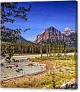 River And Mountains In Jasper Canvas Print