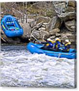 River Rafting Canvas Print