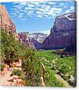 River Through Zion Canvas Print