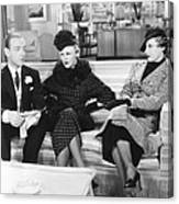 Roberta, From Left Fred Astaire, Ginger Canvas Print