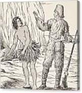 Robinson Crusoe And Friday Canvas Print