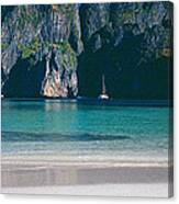 Rock Formations In The Sea, Phi Phi Canvas Print