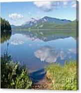Rock Lake Alberta Canada And Willmore Wilderness Canvas Print