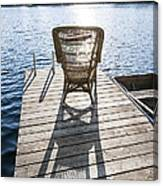 Rocking Chair On Dock Canvas Print