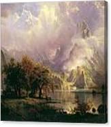 Rocky Mountain Landscape Canvas Print