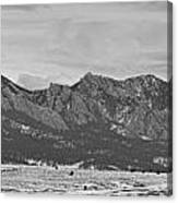 Rocky Mountains Flatirons And Longs Peak Panorama Boulder Canvas Print