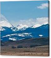 Rocky Mountains Road Canvas Print