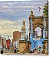 Roebling Bridge 9872 Canvas Print