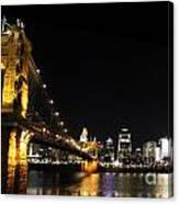 Roebling Suspension Bridge Pano 3 Canvas Print