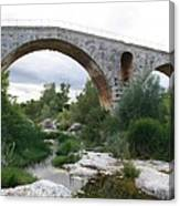Roman Arch Bridge Pont St. Julien Canvas Print