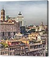 Rome Cityscape Canvas Print