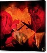 Rose Heart Canvas Print