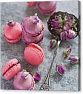 Rose Macarons Canvas Print