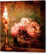 Roses By Candlelight Canvas Print
