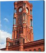 Rotes Rathaus The Town Hall Of Berlin Germany Canvas Print