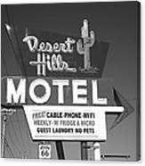 Route 66 - Desert Hills Motel Canvas Print