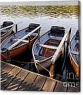 Rowboats Canvas Print