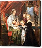 Rubens' Deborah Kip -- Wife Of Sir Balthasar Gerbier -- And Her Children Canvas Print