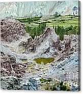 Ruins At Basgo Monastery Ladakh India Canvas Print