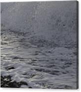 Rushing November Waves Canvas Print