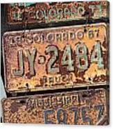 Rusted Plates Canvas Print