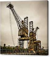 Rusty Cranes At Battersea Power Station Canvas Print