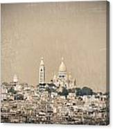 Sacre Coeur Basilica Of Montmartre In Paris Canvas Print