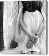Sad Angel Woman Canvas Print