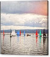 Sailing On Marine Lake A Reflection Canvas Print