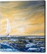 Sails At Sunset Canvas Print