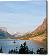 Saint Mary Lake And Wild Goose Island Canvas Print