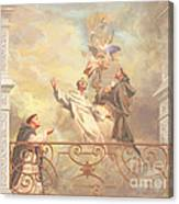 Saints Dominic Benedict And Francis Of Assisi 2 Canvas Print